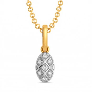 Check on Check Diamond Pendants