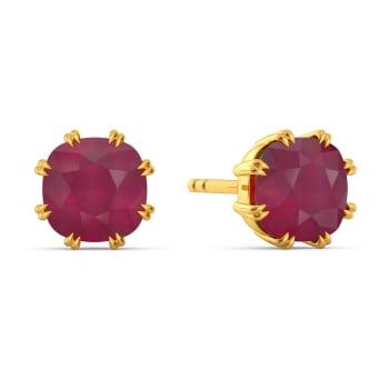 Scarlet Red Gemstone Earrings