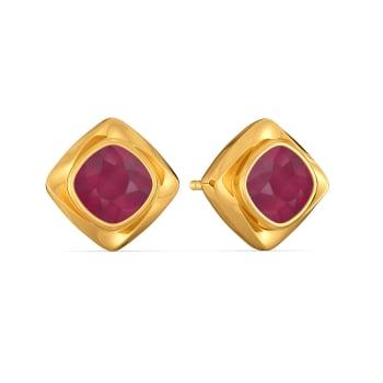 Scarlet Suave Gemstone Earrings