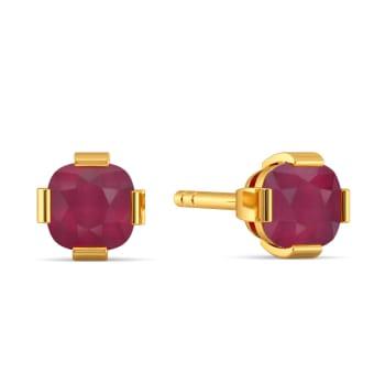 Crimson Care Gemstone Earrings