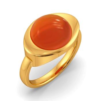 Coral Call Gemstone Rings