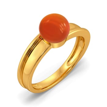 Coral Care Gemstone Rings