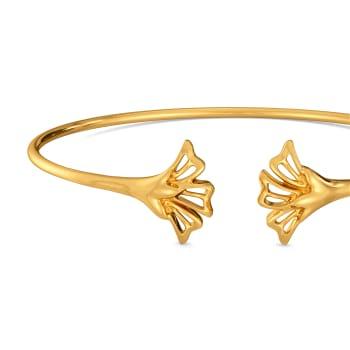 Dusky Petals Gold Bangles