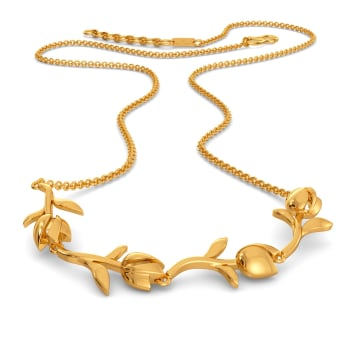 Glasual Vines Gold Necklaces
