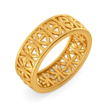 Blossom Up Gold Rings