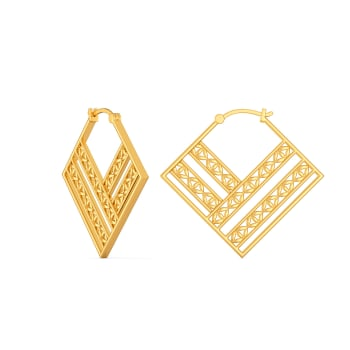Blossom Up Gold Earrings