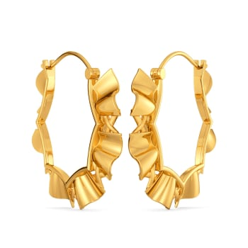 Floral Frills Gold Earrings