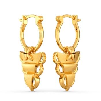 Ruff No Fuss Gold Earrings