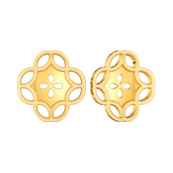 Dame of Fame Gold Earrings