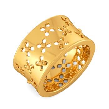 Playful Madame Gold Rings