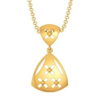 Playful Madame Gold Pendants