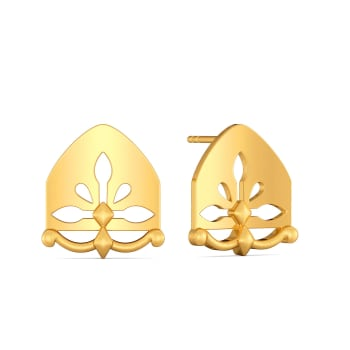 Glam Poise Gold Earrings