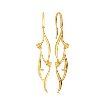 Dream of Vines Gold Earrings