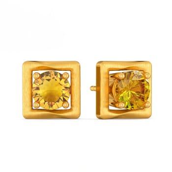 Earthy Twist Gemstone Earrings