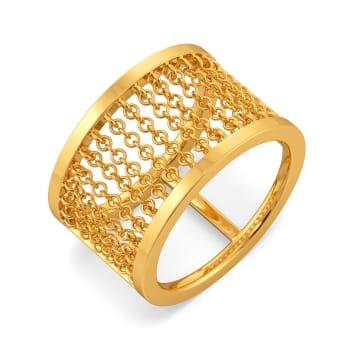 My Kinda Fringe Gold Rings