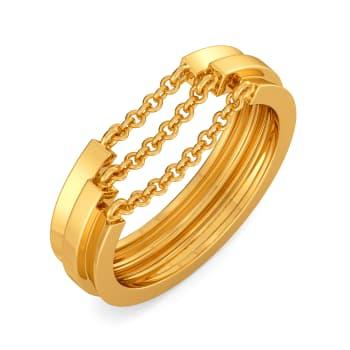 Fringe O Fashion Gold Rings