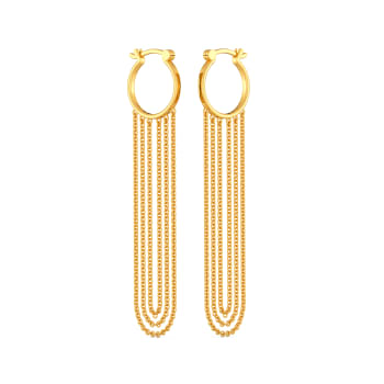 Extra on Fringe Gold Earrings