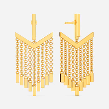 Jolly Fringe Gold Earrings