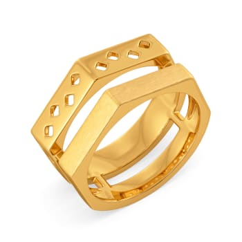 Fiery Fashion Gold Rings
