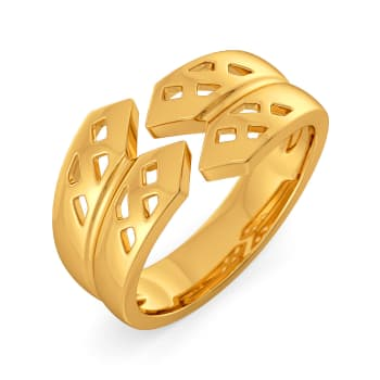 Iconic Humour Gold Rings