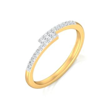 Bar Code Diamond Rings