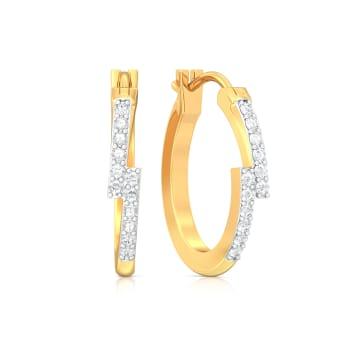 Bar Code Diamond Earrings