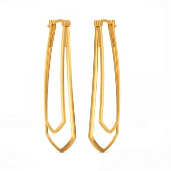 Extra Edgy Gold Earrings
