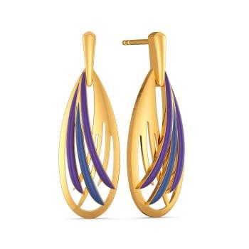Feather Flight Gold Earrings