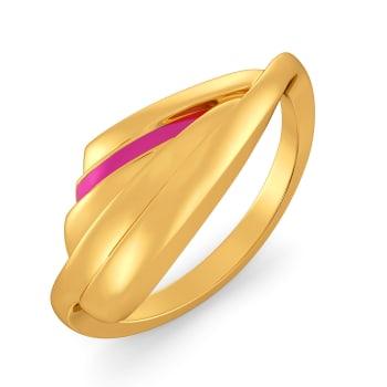 Fuchsia Fiesta Gold Rings