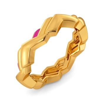 Pink N Jolly Gold Rings