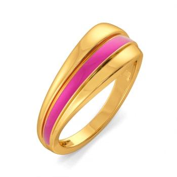 Club Fuchsia Gold Rings