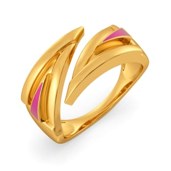 Top to Fuchsia Gold Rings