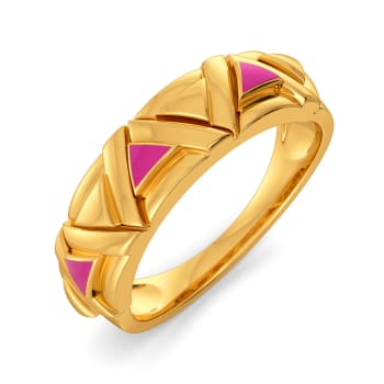 Fuchsia Finesse Gold Rings