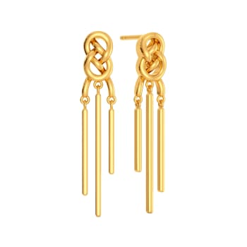 Fringe Braids Gold Earrings
