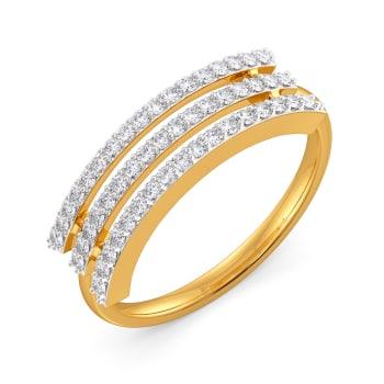 Wavy Streaks Diamond Rings