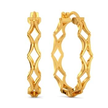 Bohemian Nets Gold Earrings