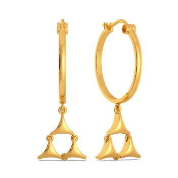Mesh On My Mind Gold Earrings