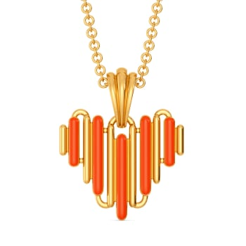 Zesty Neon Gold Pendants
