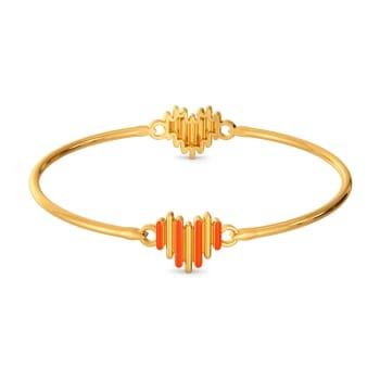 Zesty Neon Gold Bangles
