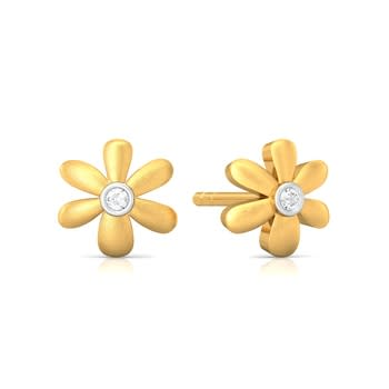Floral Charm Diamond Earrings