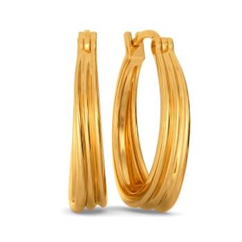 Graceful Folds Gold Earrings