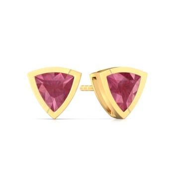 Fuchsia Rose Gemstone Earrings