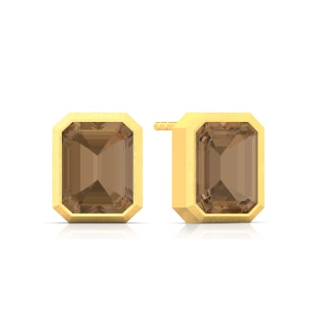 Caramel Facets Gemstone Earrings