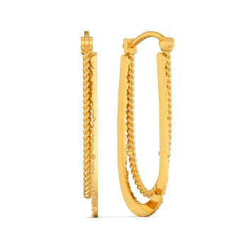 Hip and Happy Gold Earrings