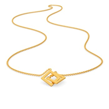 Share A Square Gold Necklaces
