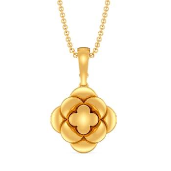 Fleur de Bloom Gold Pendants