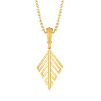 Leafy Affair Gold Pendants