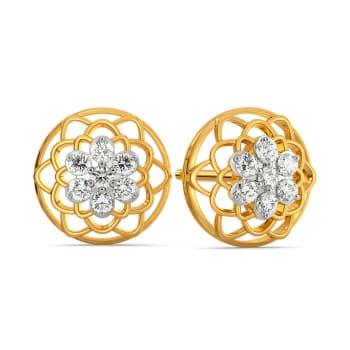 Edgy Lace Diamond Earrings