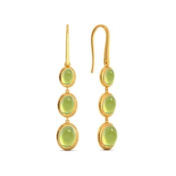 Green Groove Gemstone Earrings