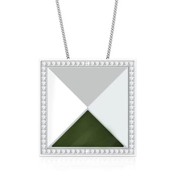Green Fields Diamond Pendants